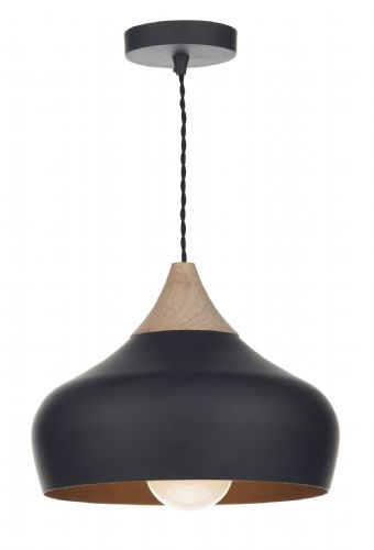 Gaucho 1 Light Pendant Black (Class 2 Double Insulated) BXGAU0122-17